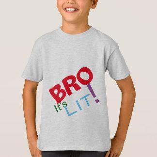 Camiseta Bro que se iluminou para fora outra vez