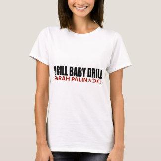 Camiseta Broca do bebê da broca - Sarah Palin 2012