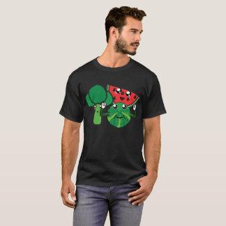 Camiseta Brócolos, melancia e couve de Bruxelas