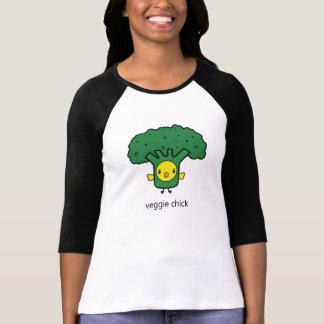 Camiseta Brócolos - o t-shirt das mulheres do pintinho do