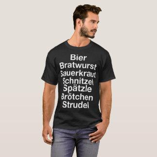 Camiseta brotch do spatzle do schnitzel do chucrute da