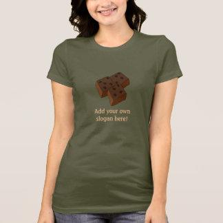 Camiseta Brownies do chocolate: Slogan customizável