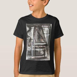 Camiseta Brushstrokes abstratos pintados Afligir-Mão