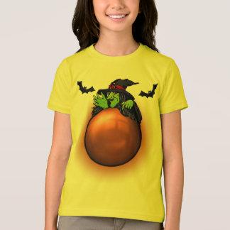 Camiseta Bruxa e bastões alaranjados da bola de cristal