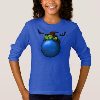 Camiseta Bruxa e bastões azuis da bola de cristal
