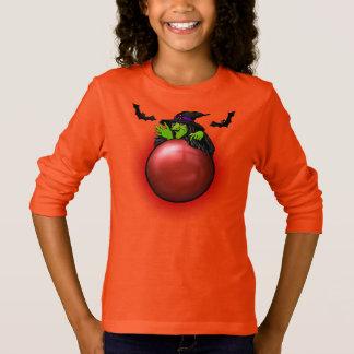 Camiseta Bruxa e bastões vermelhos da bola de cristal