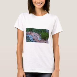 Camiseta Buda que meditating pelo córrego
