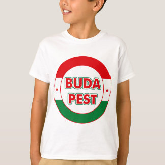 Camiseta Budapest, circle, color