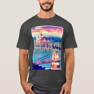 Camiseta Budapest, vintage poster