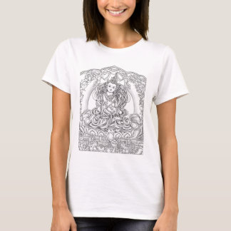 Camiseta Buddha do T=shirt das mulheres da piedade