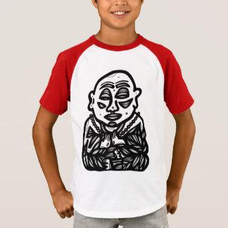 """Camiseta """"Buddha Pray"""" o t-shirt do Raglan dos meninos"""