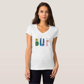 Camiseta BÚFALO do t-shirt | das mulheres, NY (BUF)