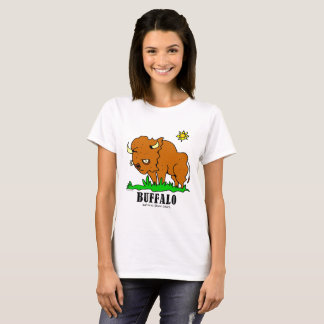 Camiseta Bufalo pelo t-shirt das mulheres de Lorenzo