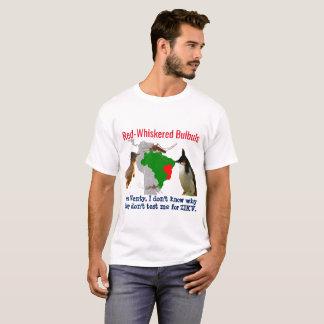 Camiseta Bulbuls Vermelhos-Whiskered em Brasil por