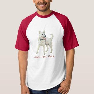 Camiseta buldogue americano branco que arfa a arte original