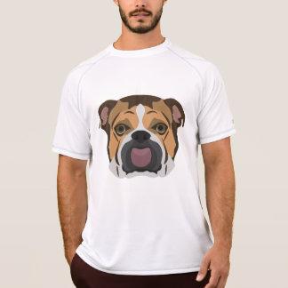 Camiseta Buldogue do inglês da ilustração