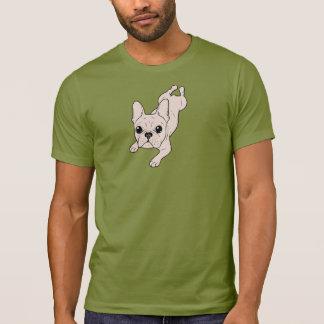 Camiseta Buldogue francês do creme das pernas de sapo