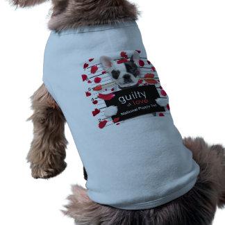 Camiseta Buldogue francês do dia dos namorados