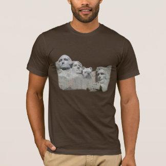 Camiseta Buldogue no Monte Rushmore