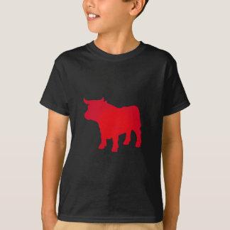 Camiseta Bull considera o vermelho