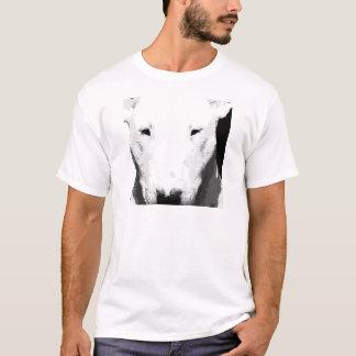 Camiseta Bull terrier preto e branco