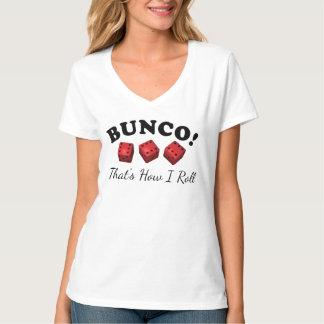 Camiseta Bunco como eu rolo o jogo dos dados