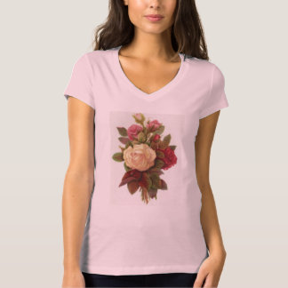 Camiseta Buquê cor-de-rosa