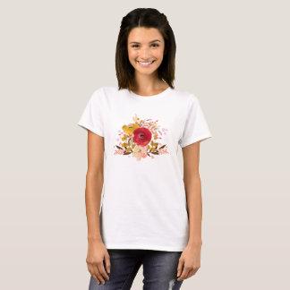 Camiseta Buquê floral bonito da aguarela