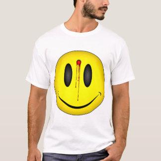 Camiseta Buraco de bala feliz da cara