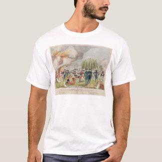Camiseta Burning do almirante Cockburn e pilhagem