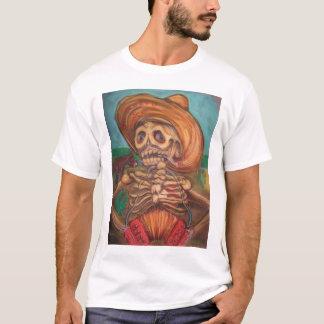 Camiseta burro do acordeão y do engodo do skeleto