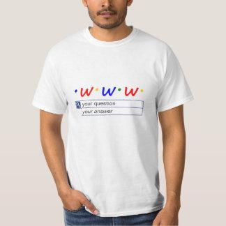 Camiseta Busca da Web - pergunta e resposta Customisable