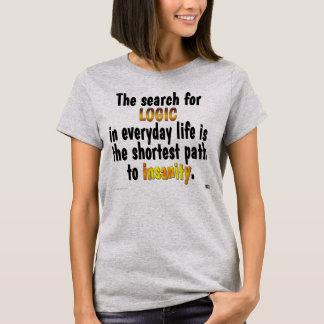 Camiseta Busca para a lógica (mulheres)