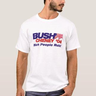 Camiseta Bush/Cheney 'slogan de 04 campanhas: Pessoas ricas