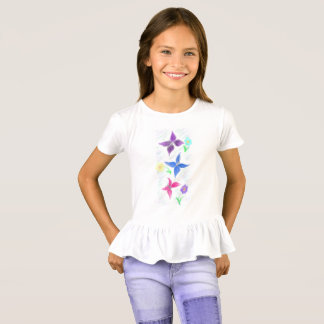 Camiseta butterlies e flores