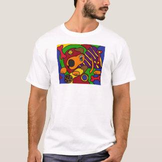 Camiseta C.A. arte impressionante do Cubist do cão