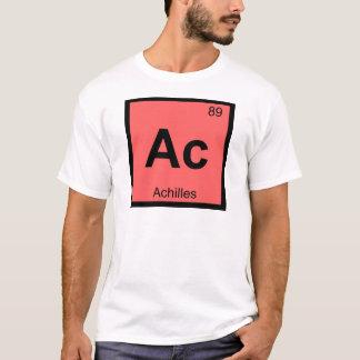 Camiseta C.A. - Mesa periódica da química grega de Achilles