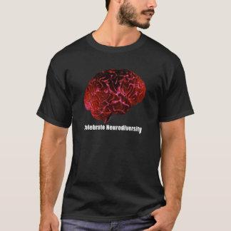 Camiseta c comemora o vermelho de Neurodiversity