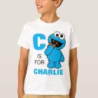 Camiseta C é para o monstro que do biscoito   adicionam seu