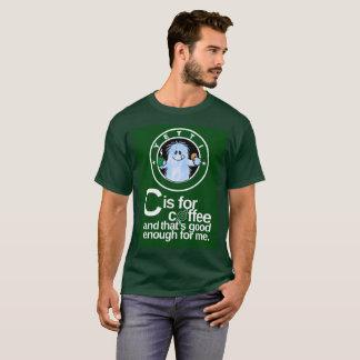 Camiseta C está para o café ligada com fundo escuro