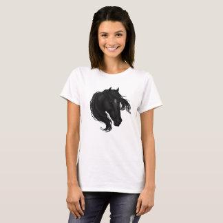 Camiseta Cabeça de cavalo preta