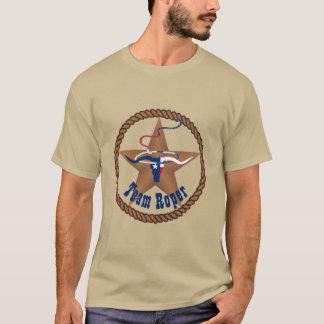 Camiseta Cabeça do boi da bandeira de Texas com equipe