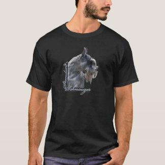 Camiseta Cabeça do Schnauzer padrão