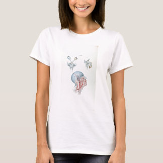 Camiseta Cabeça humana e olhos da anatomia da ilustração do