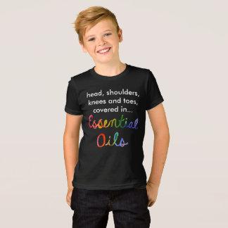 Camiseta Cabeça-ombro-joelho-e-dedos do pé dos óleos