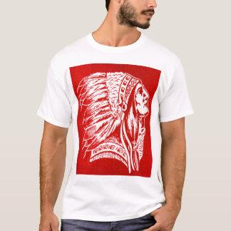 Camiseta Cabeça retro do chefe indiano do viagem do kitsch