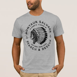 Camiseta Cabeça/t-shirt indianos de Montauk Salvamento