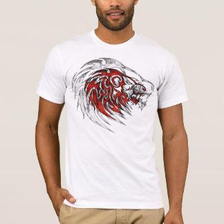 Camiseta Cabeça tribal vermelha do leão