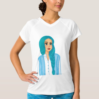 Camiseta Cabelo azul
