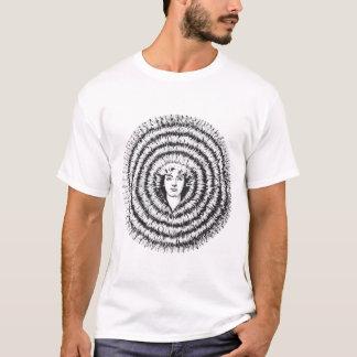 Camiseta Cabelo grande retro da ilusão óptica do kitsch do